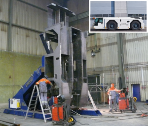Efficient and ergonomic welding of heavy-duty vehicles, aircraft pusher