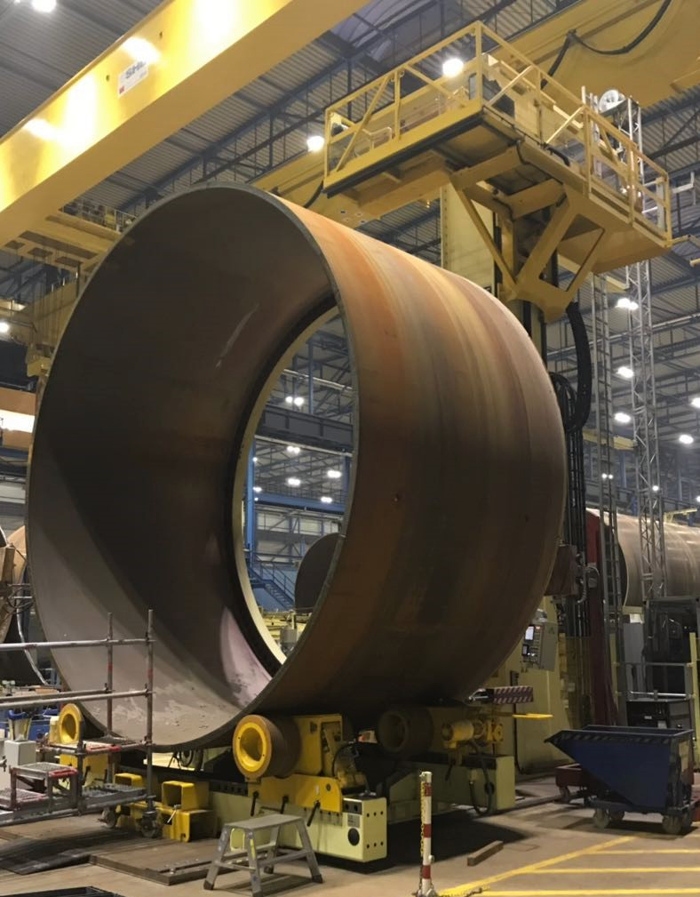 Flange fit-up and welding