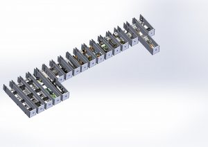 Mobile Spiral mill - containers ready for shipment