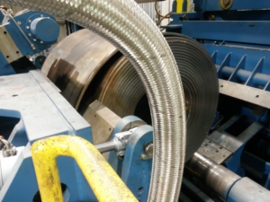 Sampling a steel coil by automated plasma cut operation