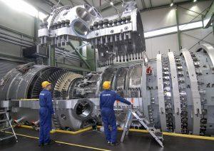 Turbine assembly at Siemens Power Generation