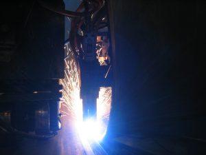 GMAW Tack welding head, 1500 Amps