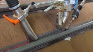 welding of interlocks onto combined walls