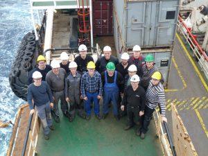 HAANE team on board for installation